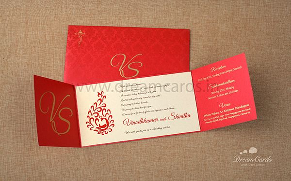 Artistic Red Invitation