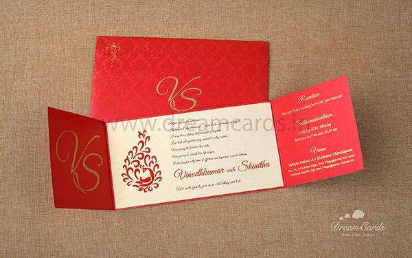 Artistic Red Invitation