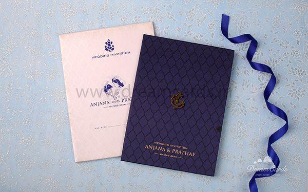 Blue Hard Bound Invitation