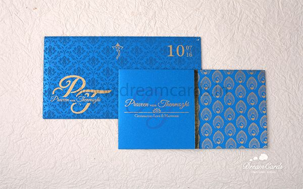 Elegant Sky Blue Invitation