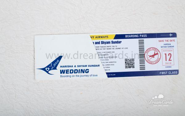 Flight Ticket card