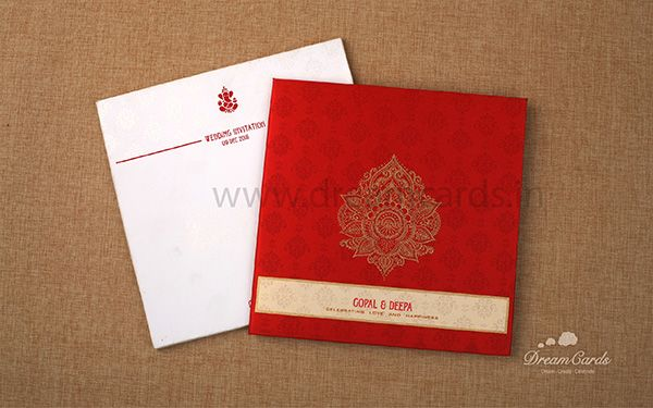 Red Hard Bound Invitation