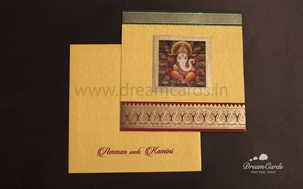 Saree Border wedding card