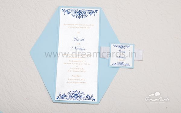 Sky Blue and Angel white card