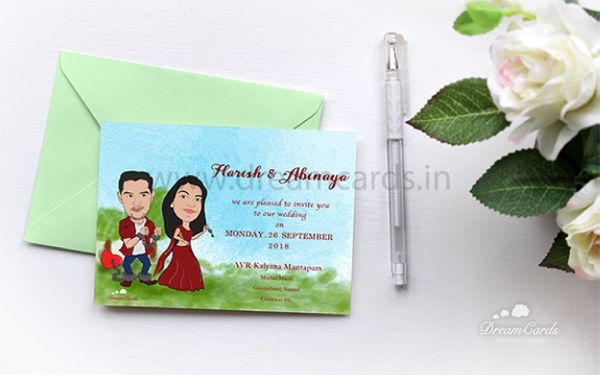 Caricature Wedding Cards