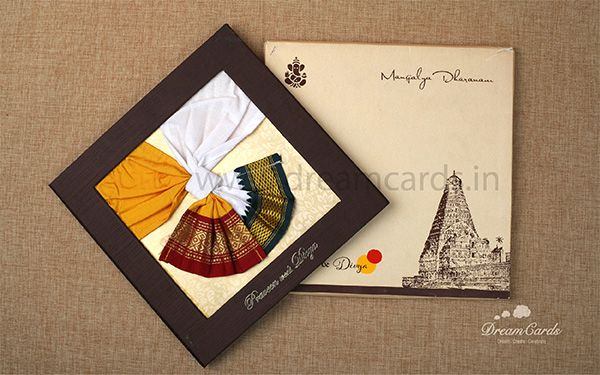 South Indian Wedding Card